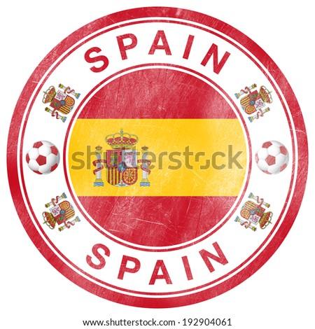 Grunge Stamp of Spain - stock photo