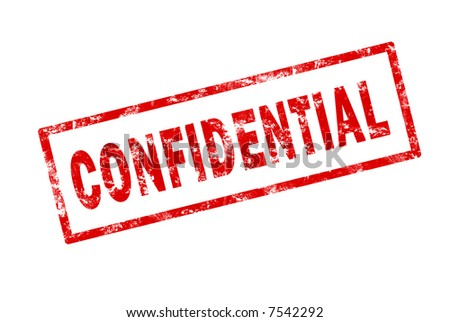 Grunge stamp of the word confidential