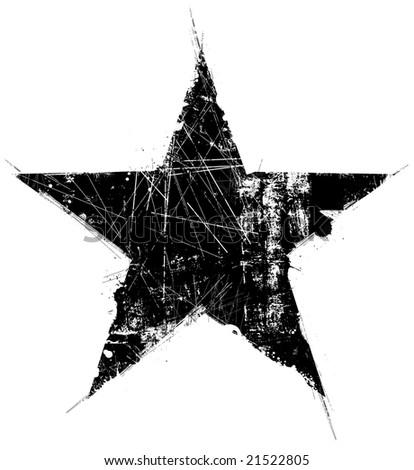 grunge star - stock photo