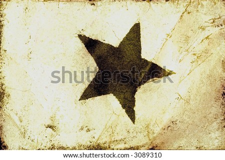 Grunge Star Texture - stock photo