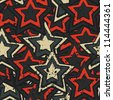 grunge stars seamless (raster version) - stock photo
