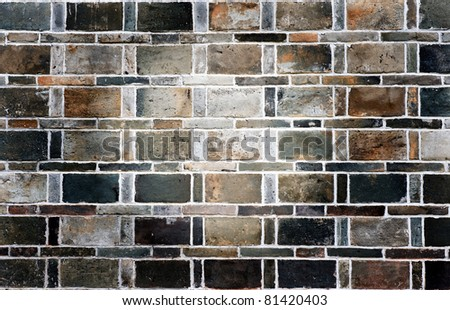 Grunge stile of brick wall.