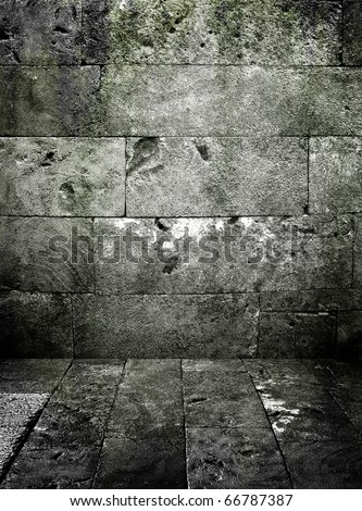 grunge stone wall - stock photo