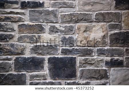 grunge stone wall background - stock photo