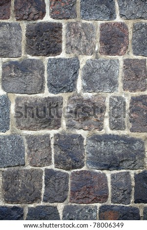 grunge stone wall background outdoor - stock photo