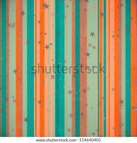 grunge striped and star background