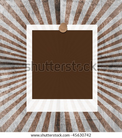 Grunge style blank note papers - stock photo