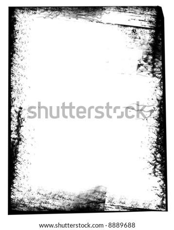 Grunge style border frame - stock photo