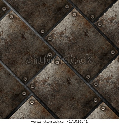 Grunge style metal plate background