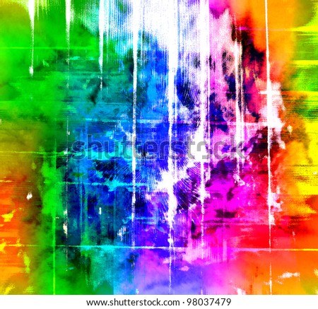 grunge style watercolor background - stock photo