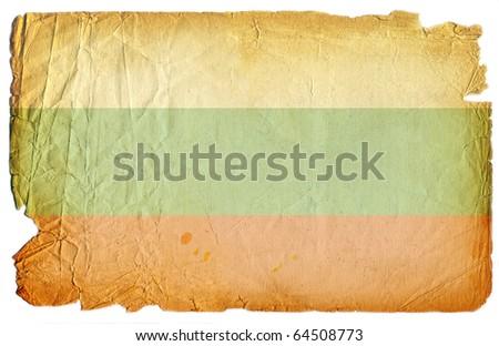 grunge styled flag of bulgaria - stock photo
