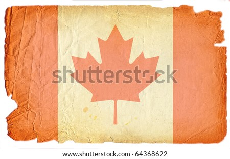grunge styled flag of canada - stock photo