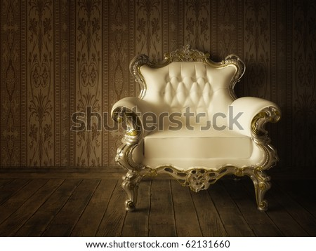 Grunge Styled Interior - stock photo