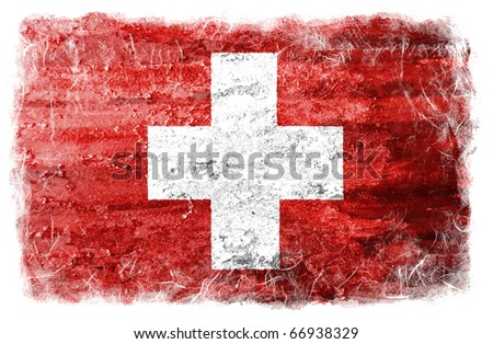Grunge Switzerland flag - stock photo