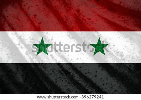 Grunge Syria flag - stock photo