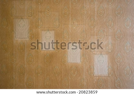grunge tapestry with frame - stock photo