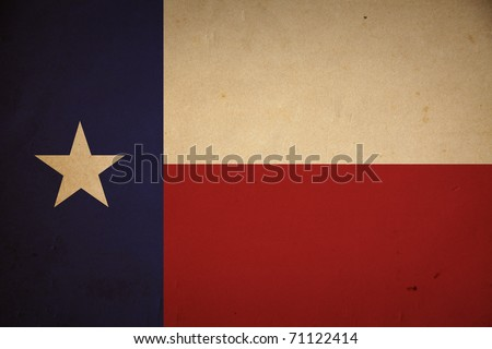 Grunge Texas state flag background. - stock photo
