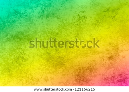 Grunge texture background. Yellow pink blue wallpaper - stock photo