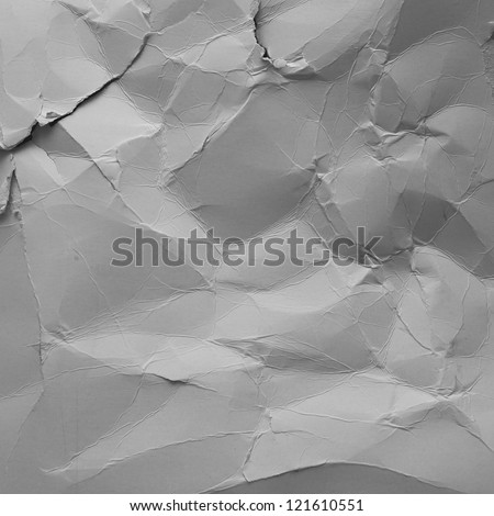 grunge texture crushed paper - stock photo