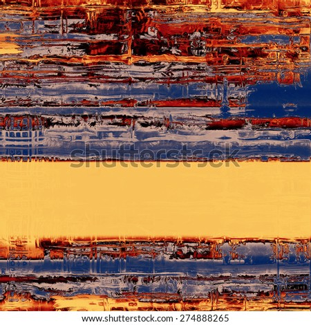 Grunge texture, may be used as retro-style background. With different color patterns: yellow (beige); brown; blue; red (orange) - stock photo