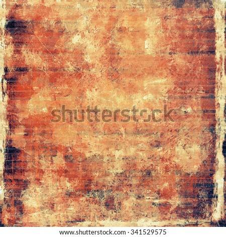 Grunge texture, may be used as retro-style background. With different color patterns: yellow (beige); brown; red (orange); black - stock photo