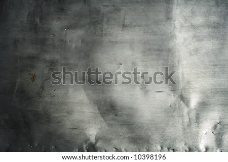 Grunge texture of aluminum - stock photo