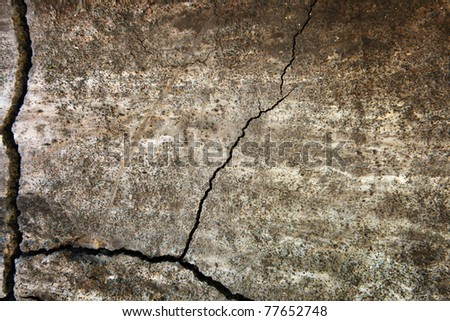 grunge texture of cracked wall surface - stock photo