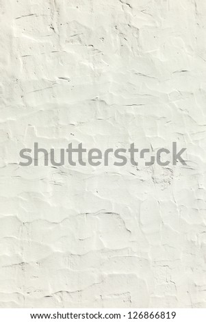 Grunge texture of white cement wall - stock photo