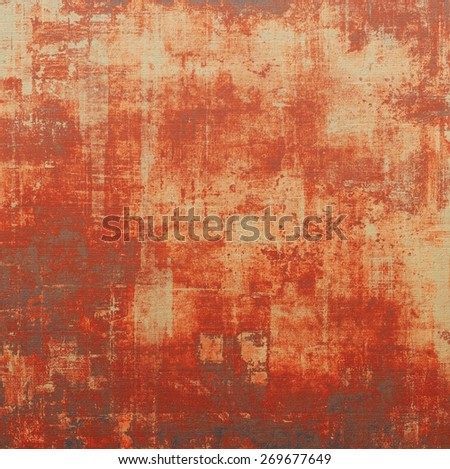 Grunge texture or background with space for text. With different color patterns: yellow (beige); red (orange); brown; gray - stock photo