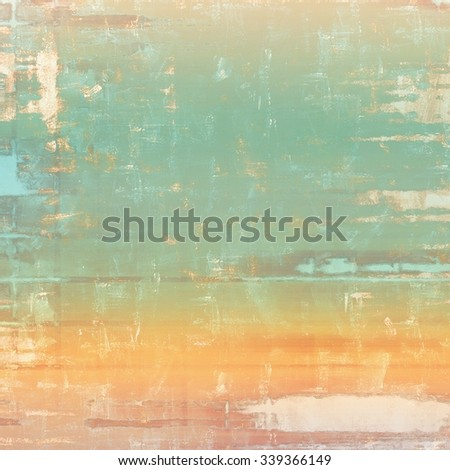 Grunge texture or background with space for text. With different color patterns: yellow (beige); brown; blue; cyan - stock photo