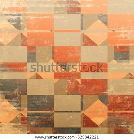 Grunge texture, Vintage background. With different color patterns: yellow (beige); brown; red (orange); gray - stock photo