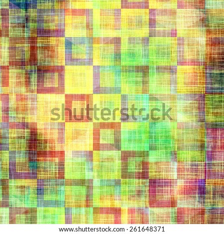 Grunge texture, Vintage background. With different color patterns: yellow (beige); purple (violet); green; blue - stock photo
