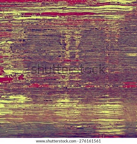 Grunge texture with decorative elements and different color patterns: brown; purple (violet); yellow (beige); pink - stock photo