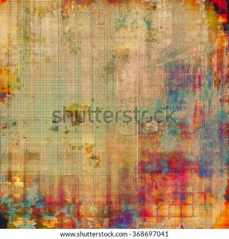 Grunge texture. With different color patterns: yellow (beige); brown; blue; red (orange); pink - stock photo