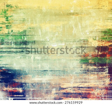 Grunge texture. With different color patterns: yellow (beige); green; blue; cyan - stock photo