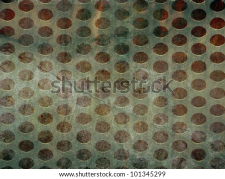 grunge texture with metal rings