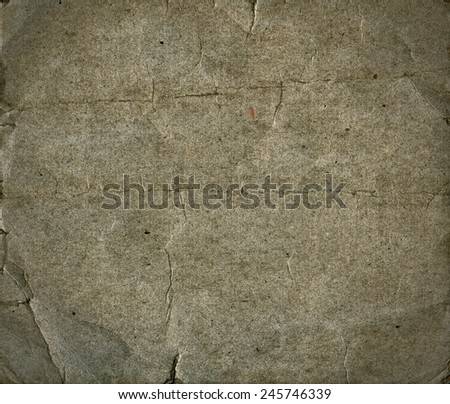 Grunge textured crumpled recycled retro paper with natural fiber parts - stock photo