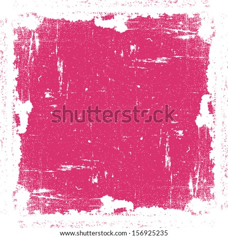 Grunge Textured Frame, pink color.