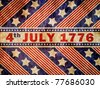 Grunge textured of USA flag for USA Independence Day - stock photo
