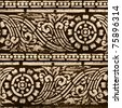 Grunge Thailand pattern style pattern handmade - stock photo