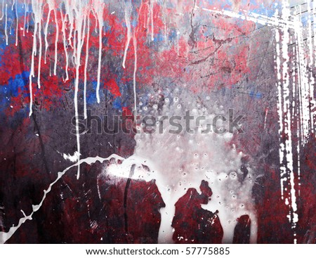 GRUNGE THE BACKGROUND WITH PAINT STAINS - stock photo