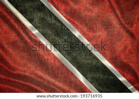Grunge Trinidad and Tobago Flag - stock photo