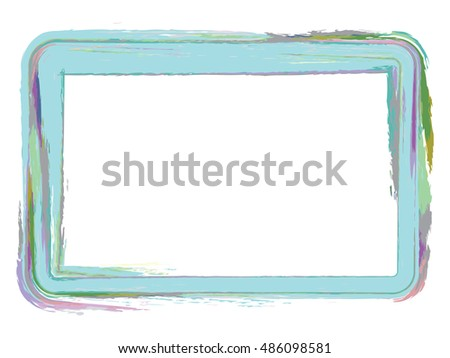 Grunge type photo frame using paint brush colors
