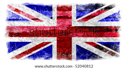 Grunge UK flag - stock photo