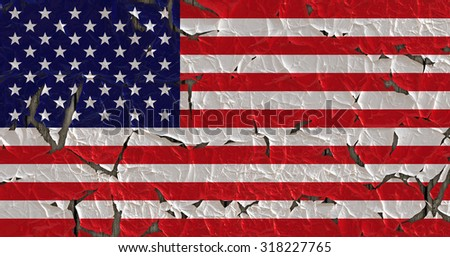 Grunge United States Flag. - stock photo