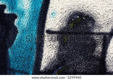 grunge urban background and details - stock photo