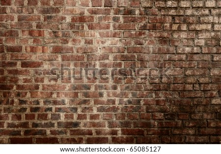 Grunge urban brick wall - stock photo