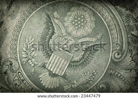 Grunge US Dollar Detail - stock photo