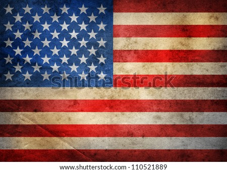 Grunge USA Flag - stock photo