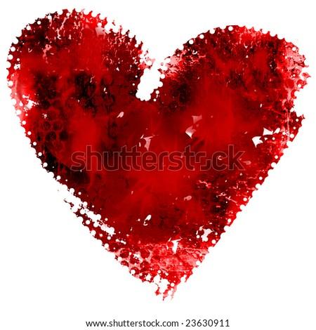 Grunge valentine heart - stock photo